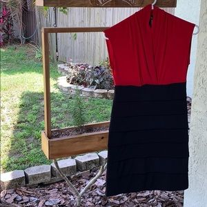 Red and Black cocktail Dress 👗